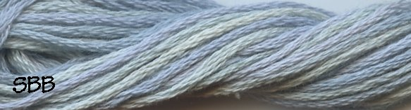 Valdani Variegated Floss O0558 Blue Suave