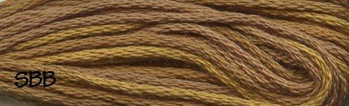 Valdani Variegated Floss P05 Tarnished Gold