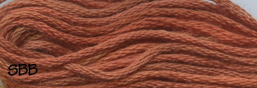 Valdani Variegated Floss P06 Rusted Orange