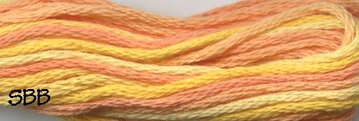 Valdani Variegated Floss V001 Orange Blossom