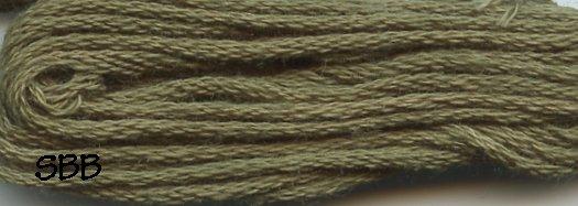 Valdani Solid Floss0822 Olive Green Medium