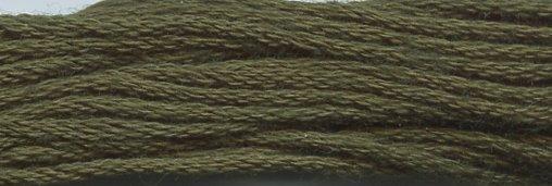 Valdani Solid Floss0823 Olive Green Dark