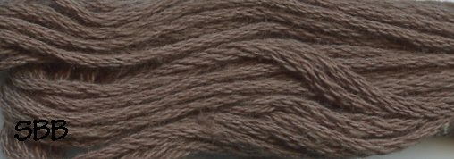 Valdani Solid Floss8121 Brown Black Light
