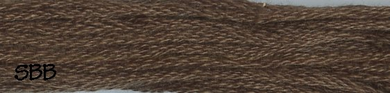 Valdani Solid Floss8122 Brown Black Medium