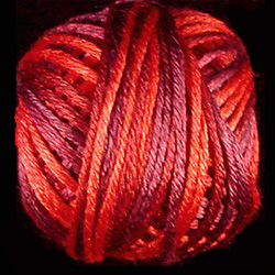 Valdani Variegated Silk M43 Vibrant Reds