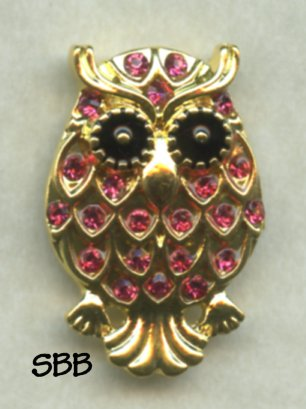 Accoutrement Designs Mag Friends Owl Pink