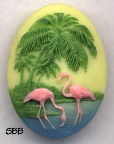 Clearance Kelmscott Designs Needle Minder Flamingos