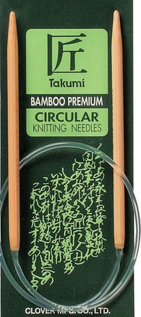 Clover Circular Knitting Needles CL30161613 Takumi Bamboo 16