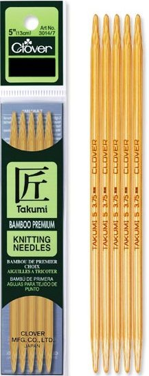 Clover Knitting Needles CL30144 Takumi Bamboo Double Point 5
