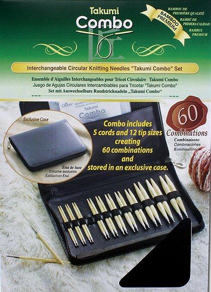 Clover Knitting Needles CL3683 Takumi Bamboo Interchangeable Circular Set With Case