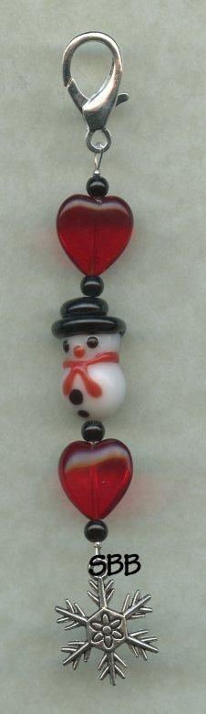Embellishing Bits Limited Edition  Snowman Scissor Fob