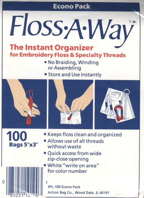 Floss-A-Way Bags100 Bags