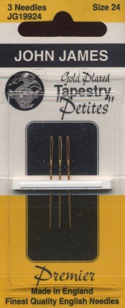 John James Needles3 Pack Gold Tapestry Petites Size 24