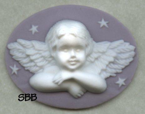 Kelmscott Designs Needle Minder Angel on Mauve