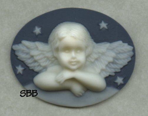 Kelmscott Designs Needle Minder Angel on Navy