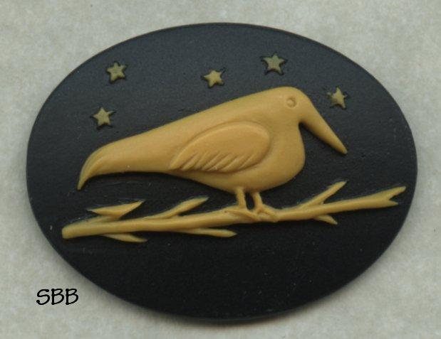 Kelmscott Designs Needle Minder Blackbird