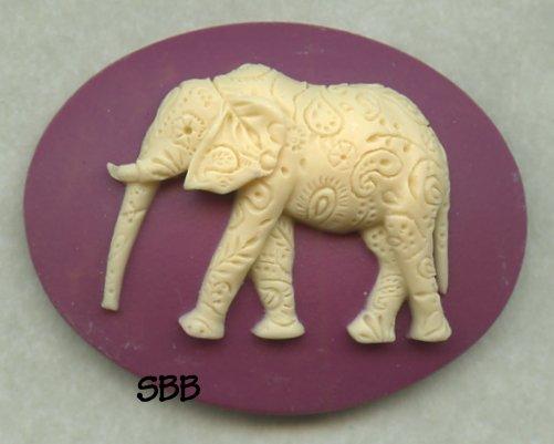 Kelmscott Designs Needle Minder Paisley Elephant