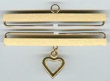 Lene Boje Bellpulls35112 Brass Satin Finish With Heart 4 1/2