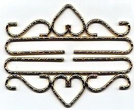 Lene Boje Bellpulls37916 Brass Bright Hammered Finish 6 1/4