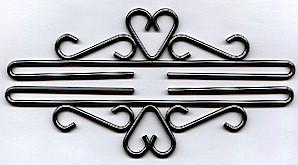 Lene Boje Bellpulls512418 Iron With Pewter Finish 7 1/8