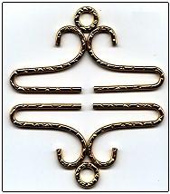 Lene Boje Bellpulls7926 Brass Hammered Finish 2 3/8
