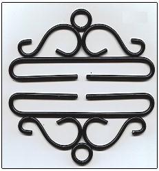 Lene Boje Bellpulls80516 Wrought Iron Black Finish 6 1/4