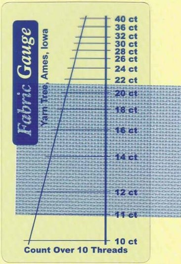 Stitch Gauge#3679 ~ Clear Vinyl Fabric Gauge