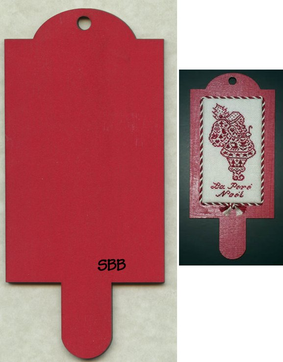 "Whimsical Edge 4 3/4"" x 3 1/8"" Red Hornbook (JBW Designs)"