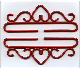 Wrought Iron Bellpulls83218 Red Finish 7 1/8