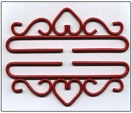 Wrought Iron Bellpulls83225 Red Finish 9 7/8