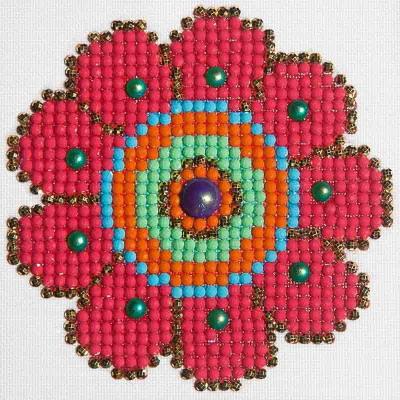 Diamond Dotz NNADD18 Flower Power Printed Fabric