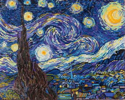 Diamond Dotz NNADD91 Starry Night ~ Van Gogh Printed Fabric