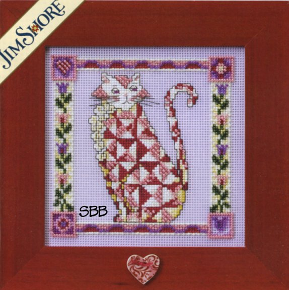 Jim Shore Kits JS148401 2008 Quilted Cats Scarlet