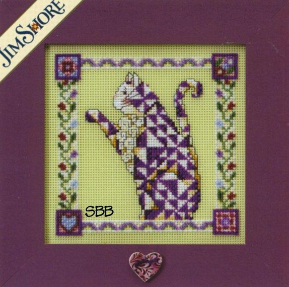 Jim Shore Kits JS148403 2008 Quilted Cats Petunia