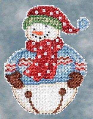 Mill Hill Debbie Mumm Kits DM204101 Winter Series 2014 ~ Jingle Snowbell