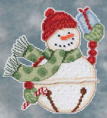 Mill Hill Debbie Mumm Kits DM204103 Winter Series 2014 ~ Freezy Snowbell