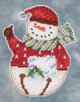 Mill Hill Debbie Mumm Kits DM204104 Winter Series 2014 ~ Flurry Snowbell