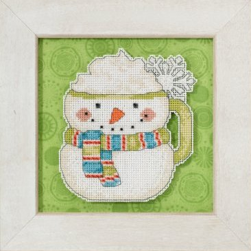 Mill Hill Debbie Mumm Kits DM205103 Winter Cheer 2015 ~ Frosty Mug