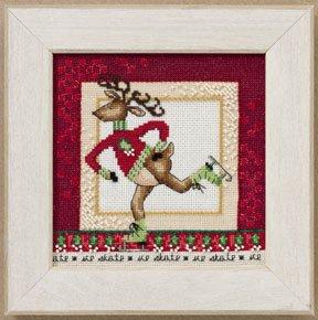 Mill Hill Debbie Mumm Kits DM300202 Skating Reindeer 2010 ~ Raymond