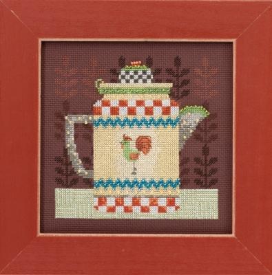 Mill Hill Debbie Mumm Kits DM301611 Good Coffee & Friends ~ Coffee Pot