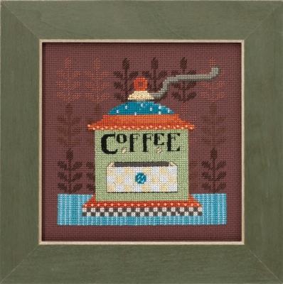 Mill Hill Debbie Mumm Kits DM301612 Good Coffee & Friends ~ Coffee Grinder
