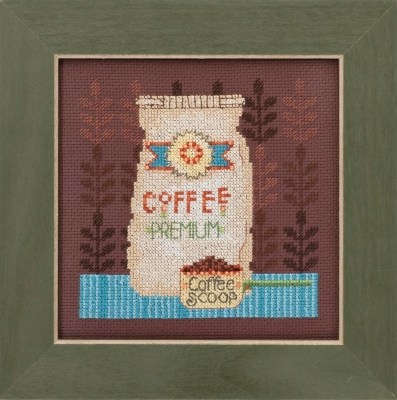 Mill Hill Debbie Mumm Kits DM301614 Good Coffee & Friends ~ Coffee Grounds