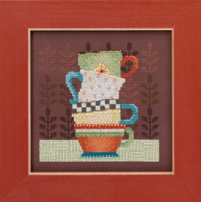 Mill Hill Debbie Mumm Kits DM301615 Good Coffee & Friends ~ Coffee Cups