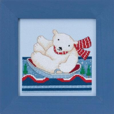 Mill Hill Debbie Mumm Kits DM301713 Polar Opposites ~ Polar Slide