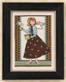 Mill Hill Debbie Mumm Kits DM302103 Angel Girls 2012 ~ Tea For Two