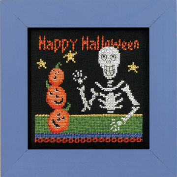 Mill Hill Debbie Mumm Kits DM303101 Frighful Delights 2013 ~ Happy Skeleton