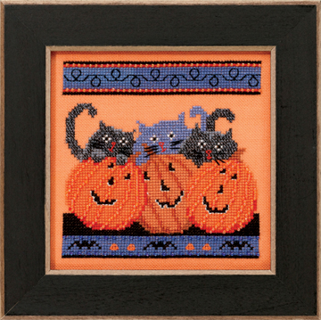 Mill Hill Debbie Mumm Kits DM303102 Frighful Delights 2013 ~ Jacks & Cats