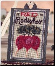 Mill Hill Debbie Mumm Kits DMST2 Seed Tag ~ Red Radishes