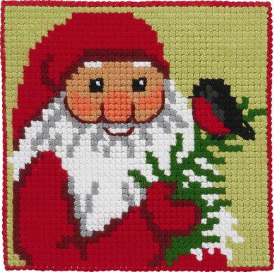 Permin Kits9244 ~ Santa With Bird ~ Canvas