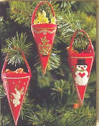 Permin Kits012202 ~ Three Christmas Bags ~ 18 count Aida